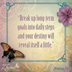Break Up Goals Into Steps